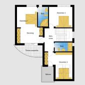 Plan etaj Casa cu etaj 1