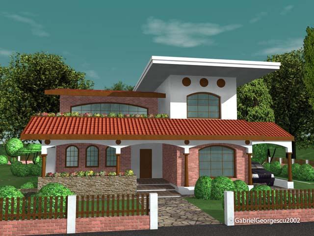 Proiecte de case casa cu etaj 2 arhitect gabriel for Case cu terase