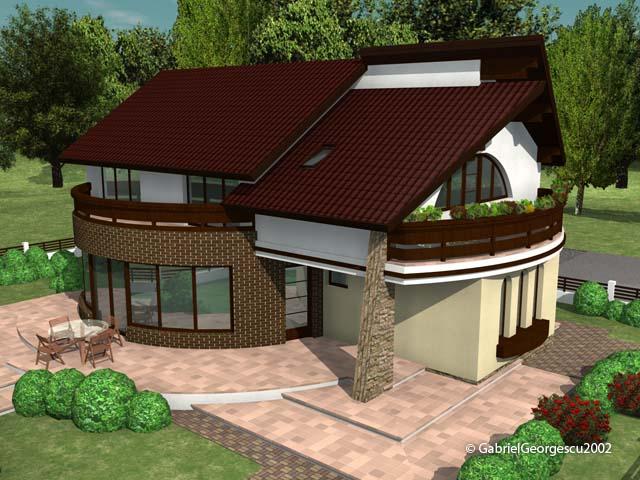 Casa cu etaj 3 proiecte de case personalizate arhitect for Case cu etaj