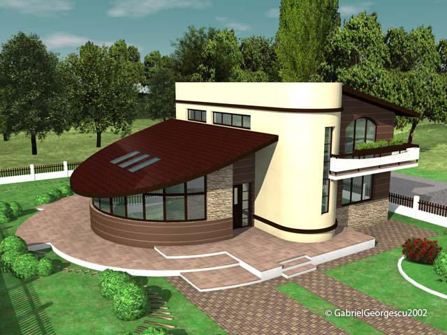 Proiecte de case casa cu etaj 5 arhitect gabriel georgescu for Case de vis cu etaj