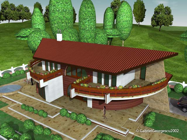 Proiecte de case casa cu etaj 6 arhitect gabriel for Case de vis cu etaj