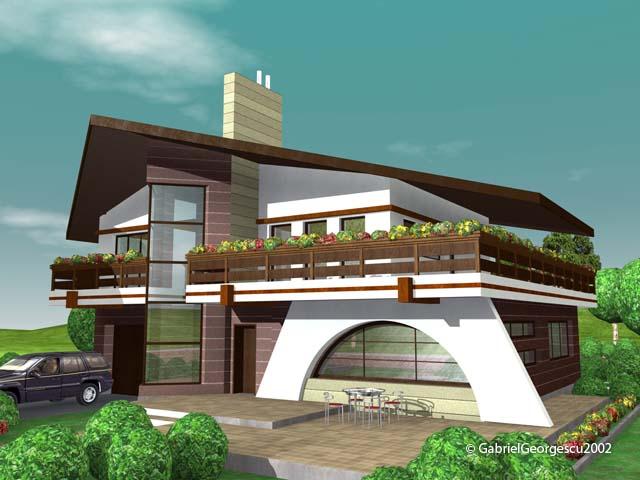 Proiecte de case casa cu etaj 7 arhitect gabriel georgescu for Case de vis cu etaj