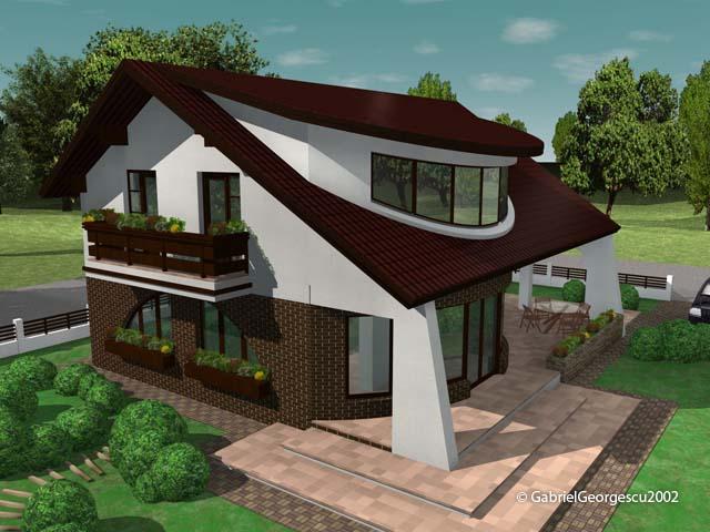 Proiecte de case casa cu etaj 8 arhitect gabriel for Modele de case fara etaj cu terasa