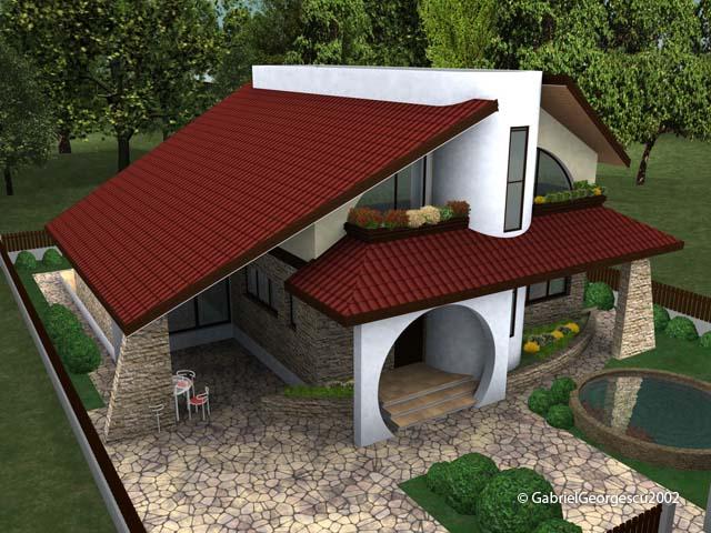 Proiecte de case casa cu etaj 10 arhitect gabriel for Modele de case fara etaj cu terasa