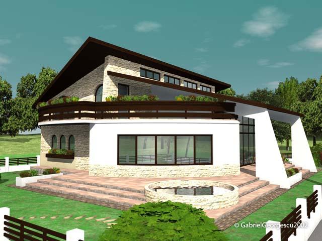 Proiecte de case casa cu etaj 11 arhitect gabriel for Case de vis cu etaj