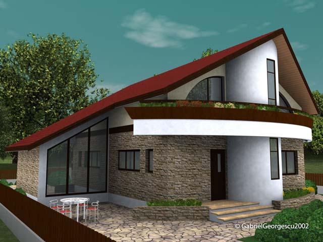 Proiecte de case casa cu etaj 13 arhitect gabriel for Case de vis cu etaj