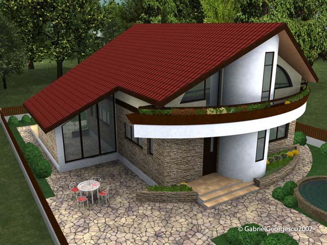 Proiecte de case casa cu etaj 13 arhitect gabriel for Case cu terase