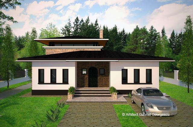 Proiecte de case casa cu etaj 28 arhitect gabriel for Arhitectura case cu mansarda
