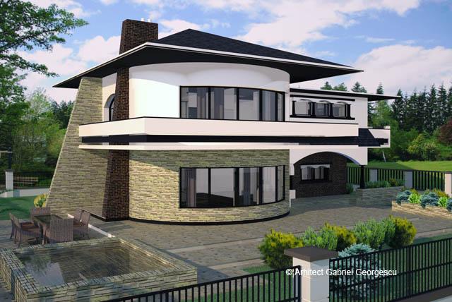 Proiecte de case casa cu etaj 29 arhitect gabriel for Modele case cu terase acoperite