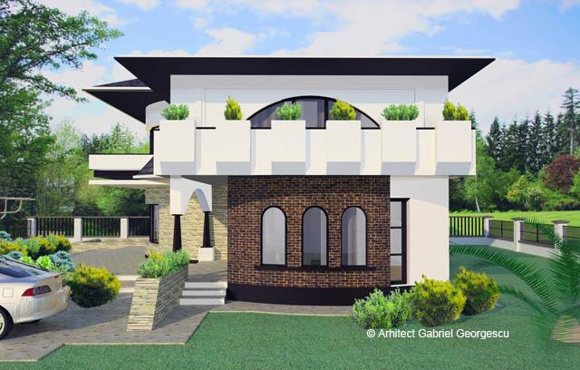 Proiecte de case casa cu etaj 29 arhitect gabriel for Case de vis cu etaj