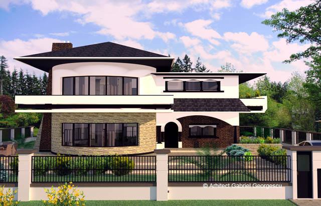 Proiecte de case casa cu etaj 29 arhitect gabriel georgescu for Casa cub moderne