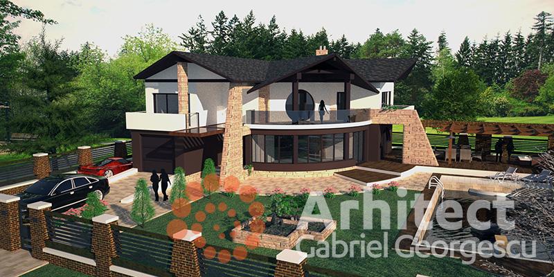 Proiecte de case casa cu etaj 30 arhitect gabriel for Case de vis cu etaj