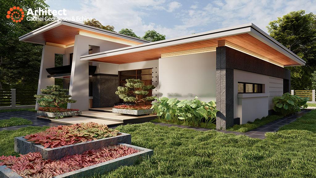 Proiecte de case casa cu etaj 45 arhitect gabriel for Case cu terase