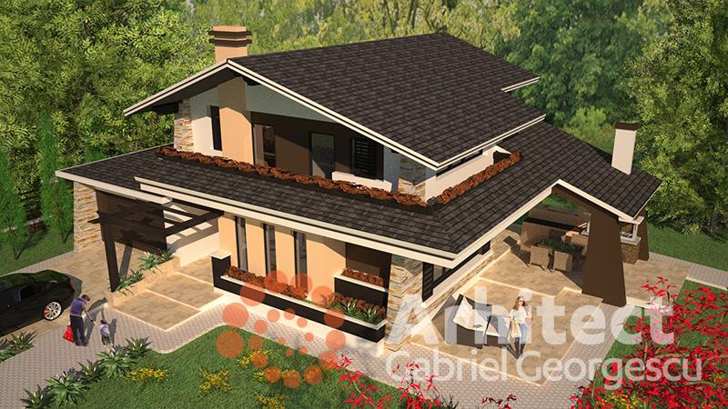 Proiecte de case casa cu etaj 46 arhitect gabriel for Case cu etaj