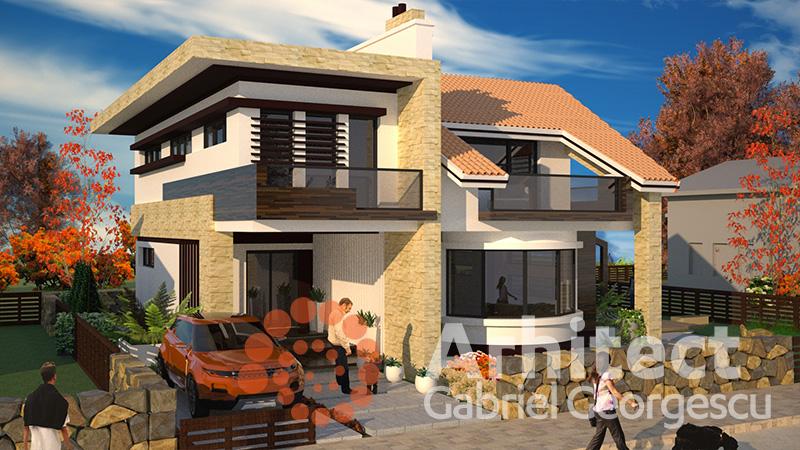 Proiecte de case casa cu etaj 53 arhitect gabriel for Case de vis cu etaj