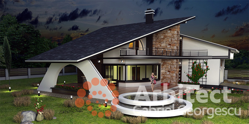 Proiecte de case casa cu etaj 58 arhitect gabriel for Case cu etaj si garaj