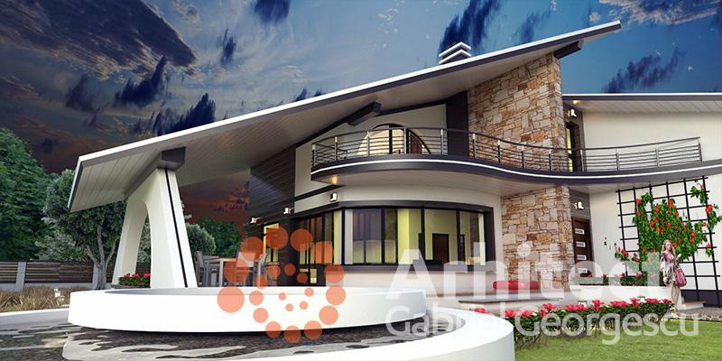 Proiecte de case casa cu etaj 58 arhitect gabriel for Case de vis cu etaj