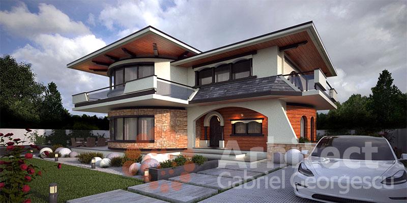 Casa cu etaj 63 proiecte de case personalizate for Case de vis cu etaj