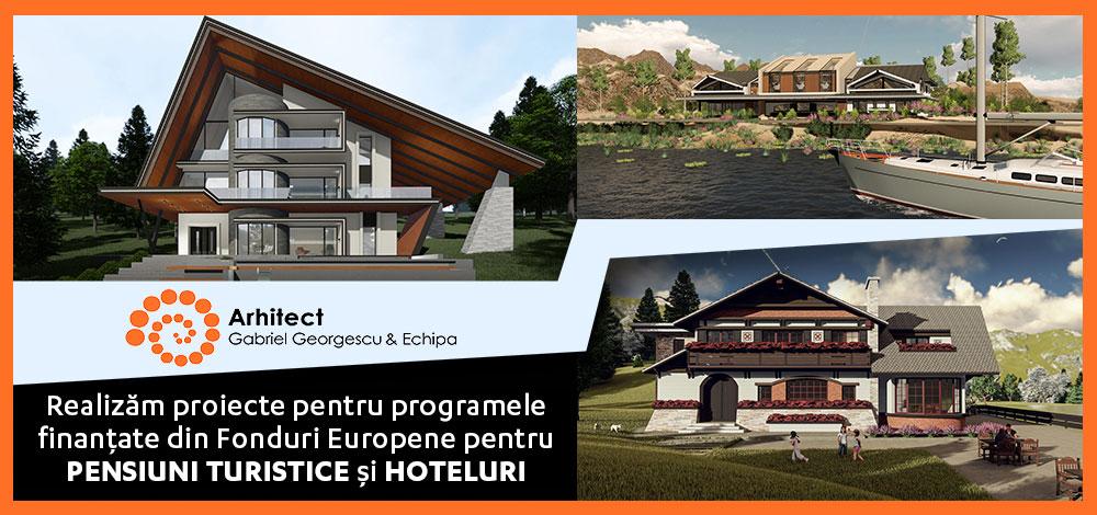 Realizăm proiecte pentru programele finanțate din Fonduri Europene pentru PENSIUNI TURISTICE și HOTELURI